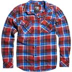 Flame Red Long Sleeve Trent Shirt - 06380-122-S