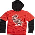 Youth Flame Red Barge Tower 2fer Hoody - 06669-122-L