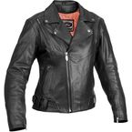 Womens Sapphire Leather Jacket - 09-4863
