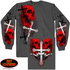 Skulls and Crosses Long Sleeve T-Shirt - GMD2209XXL
