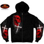 Skulls and Crosses Zip Hoody - GMZ4209XL