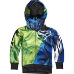 Kids Day Glo Green Radeon Zip Hoody - 08239-272-S