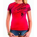 Womens Noise Red Tee - 3031-1992