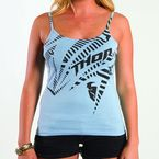 Womens Noise Blue Tank Top - 3031-2039