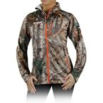 Womens Realtree Xtra Camo Elevation Full Zip Long Sleeve Shirt