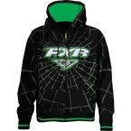 Black/Green Fracture Zip Hoody - 13830