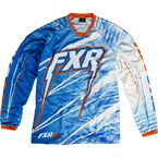 Blue/White/Orange Podium Warp Jersey - 13770