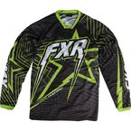 Black/Charcoal/Green Podium Star Jersey