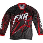 Black/Charcoal/Red Podium Star Jersey