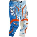 Blue/White/Orange Podium Warp Pants - 13771