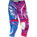 Fuchsia/Cyan Womens Podium Warp Pants - 13771