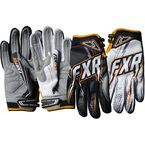 Black/White/Orange Podium Warp Gloves - 13772