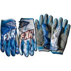 Blue/White/Orange Podium Warp Gloves - 13772
