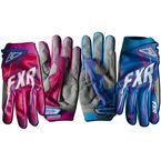 Fuchsia/Cyan Womens Podium Warp Gloves - 13772