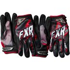 Black/Charcoal/Red Podium Star Gloves - 13772
