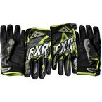 Black/Charcoal/Green Podium Star Gloves - 13772