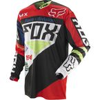 Black/Red 360 Intake Jersey - 06393-017-L