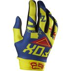 Yellow/Blue 360 Intake Gloves - 07020-586-S
