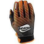 Youth Black/White/Orange Axxis Gloves - 351916
