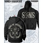 Black Sons & Crossed Guns Reaper Zip Hoody - 28-252-423BK-M