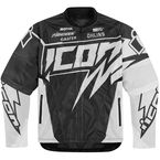 White Hooligan Spaztyk Jersey Jacket - 2820-2968