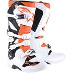 White/Orange Tech 7 Enduro Boot - 2012114-24-10