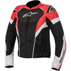 Womens Black/White/Red Stella T-GP Plus R Air Jacket  - 3310614-123-L