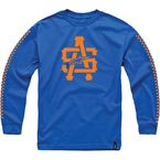Royal Blue Hell Track Long Sleeve Tee - 10147100179DM