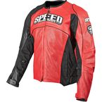 Red Top Dead Center Leather Jacket - 87-7907