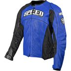 Blue Top Dead Center Leather Jacket - 87-7913