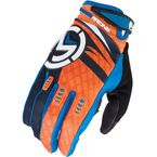Youth Black/Blue/Orange M1 Gloves - 3332-0879