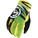 Youth Green/Yellow M1 Gloves - 3332-0891