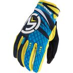 Black/Blue/Yellow M1 Gloves - 3330-3013