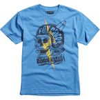 Youth Heather Blue Grip T-Shirt - 10987-522-M