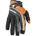 Orange Mesh and Textile Lunatic Fringe Gloves - 87-6405