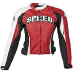 Womens Red Throttle Body Textile Jacket - 87-7247