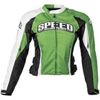 Women Green Throttle Body Textile Jacket - 87-7264