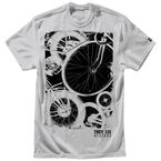 Silver Gray Wheels T-Shirt - 6129-3909