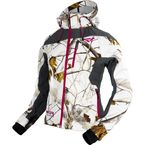 Womens AP Snow Camo/Charcoal Mission Softshell Hoodie