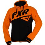 Black/Orange Triumph Zip Hoodie
