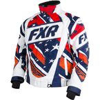 Navy/Orange/Red Stars and Stripes Helix Jacket