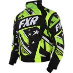Black/Lime Stars and Steipes Helix Jacket - 15114
