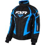 Womens Black/Blue Team Jacket