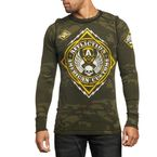 Military Green Camo/Black Reversible Mass Power Long  Sleeve Thermal - A8647-MGBK-M