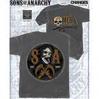 Charcoal Samcro Circle Chain T-Shirt - 28-635-477CH-XXL