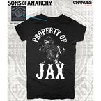Womens Junior Cut Black Jax Property T-Shirt - 28-444-357BK-S