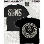 Black Sons with Circular Logo T-Shirt - 28-631-342BK-M