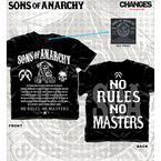 Black No Rules No Masters T-Shirt - 28-631-160BK-M