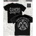 Black Samcro Rifle and Circular Back Logo T-Shirt - 28-631-291BK-L