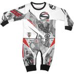 Infant Gray/White/Red 1-Piece Ride Smooth Camo Pajamas - 2805-302